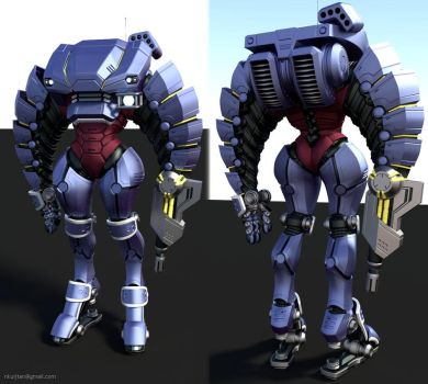 Mech armor suit wip by Pyroxene