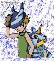 Matt and gabumon panama by Spirit-woods