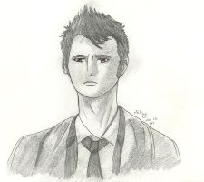 10th Doctor Sketch by AlonDarsSister