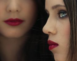 Red Lips And Bleu Eyes By Far by SophieRata