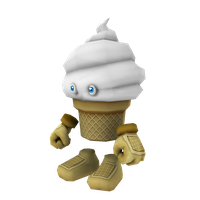 Ice Cream Cone Character by HaagNDaaz