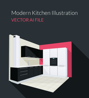 Freebie - 3D Kitchen Illustration by GraphBerry