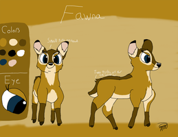 Fawna 2014 Reference Sheet by Fawnadeer