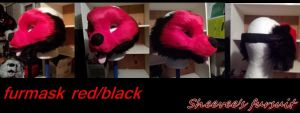 Furmask black and red by eevee6969