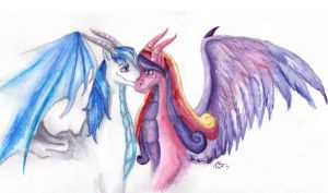 Cadence and Shining  were dragons by zarielcharoitite