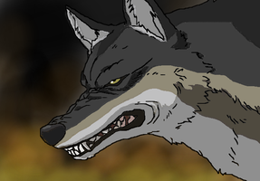 Dire Wolf wallpaper by TheSpiderAdventurer
