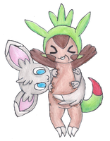 Chespin Cino'd by FluffyCloudBunny