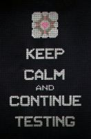 Keep Calm and Continue Testing by StitchPlease