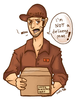 Dom the Delivery Man by wolfie-janice