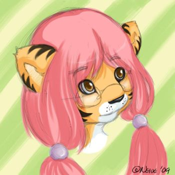 Art from 2009 - Tiger Sketch by Neive