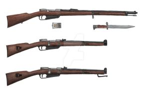 German Model 1888 Comission Rifle by stopsigndrawer81