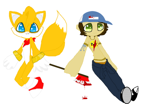 Ellis and Tails  for LEFT4NYANcat by ChocolateChip101
