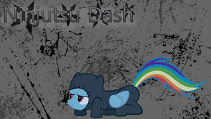Rainbow Dash - Ninjutsu Wallpaper by ctucks