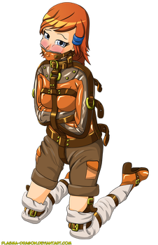 Citrah looking cute in a straitjacket by Plasma-dragon