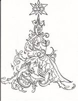Christmas card - Tree by magickalmoon