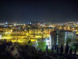 HDR Podgorica at night by rade32
