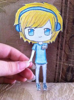 Pewdiepie paper child by AhoyNekoChan