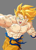 Goku Super Sayan by BloodyMsK