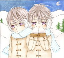 Snow Twins by Blood-Red-Angel1