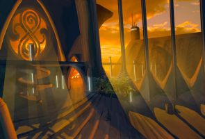 Gallifrey environment sketch by gntlemanartist