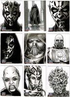 Star Wars Galaxy 7 Sketchcards 2 by Frisbeegod