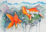 Watercolor Fishies by Epiphron