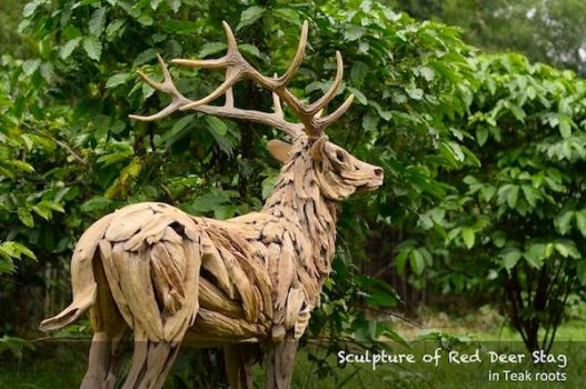 Red Deer Sculpture by ghoff24