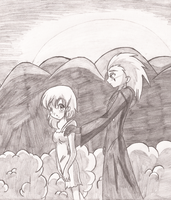 Axel and Namine - Commission by Blayzes