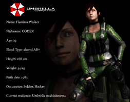 Flaminia Wesker_Resident Evil OC by FlaminiaKennedy