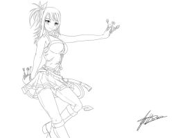 Lucy Heartfilia - LINEART by jadeedge