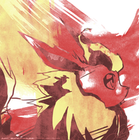 Flareon Paint by super-tuler