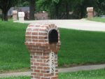 1600 x 1200 desktop wallpaper: Brick Mailbox Hell by jaevairny
