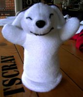 Akamaru Hand Puppet by Quiell