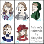 Hairstyles for Sabrina. by planxtafroggie