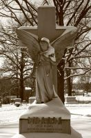 snow angel in sepia by wolfstones13