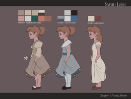 Young Odette outfit sheet by LamourDanimer