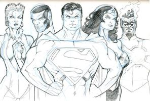 JLA sketch 06152009 by guinnessyde