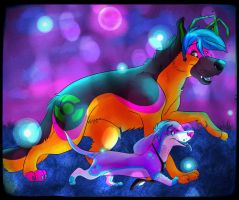 ::COLLAB:: Sparkledogs by AlexDachshund