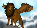 Winged Lion (Digital) by PositivePortia