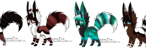 Adoptables (4/4 sold) -CLOSED- by XxAdoptxX