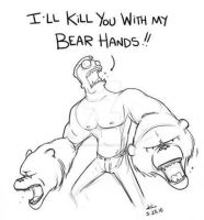 Literally. Bear. Hands. by veridisquotwo
