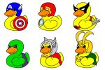 Marvel Ducks by Queen-Of-Cute
