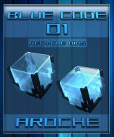 Blue Code 01 - Recycle Bins by aroche
