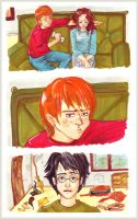 Ron teaching Harry's tact by Tite-Abi