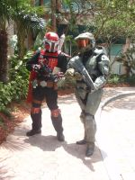 Mandalorian and Mistress Chief by Soul-Drinker-Eowyn