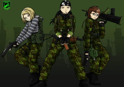 Chicks of airsoft by Arenoth