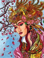 Empress Gong Li color by KwongBee-Arts