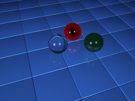 Tile and spheres_2 by vicing