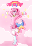 Unikitty Human form by fluffiemoustache