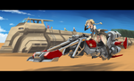 Girl on a hoverbike by isangkutsarangmoe